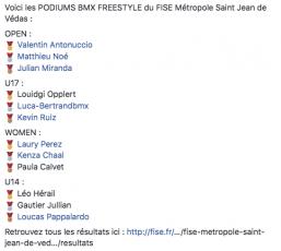 Fise Metropole St Jean de Védas 2018