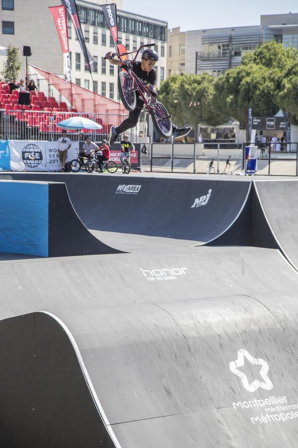 Montpellier, France, during the Festival International des Sports Extrèmes