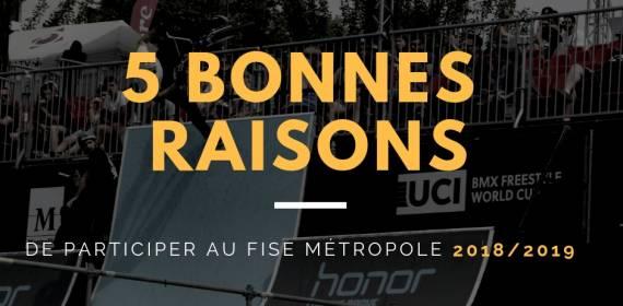 5 BONNES RAISONS DE PARTICIPER AU FISE METROPOLE
