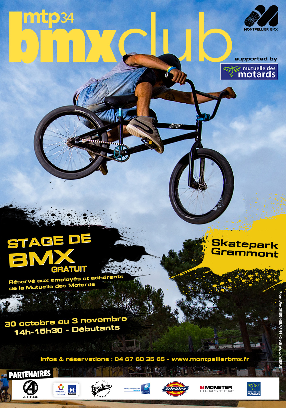 partenariat stages gratuits adh rents et salari s de la mutuelle des motards montpellier bmx. Black Bedroom Furniture Sets. Home Design Ideas